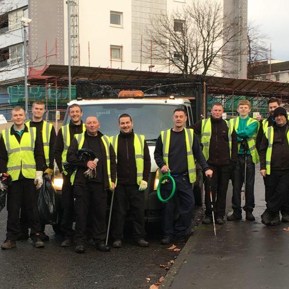 Neighbourhood Environmental Team blitz Glasgow community