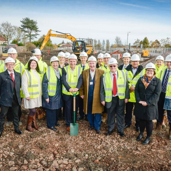 New homes for Glasgow community.