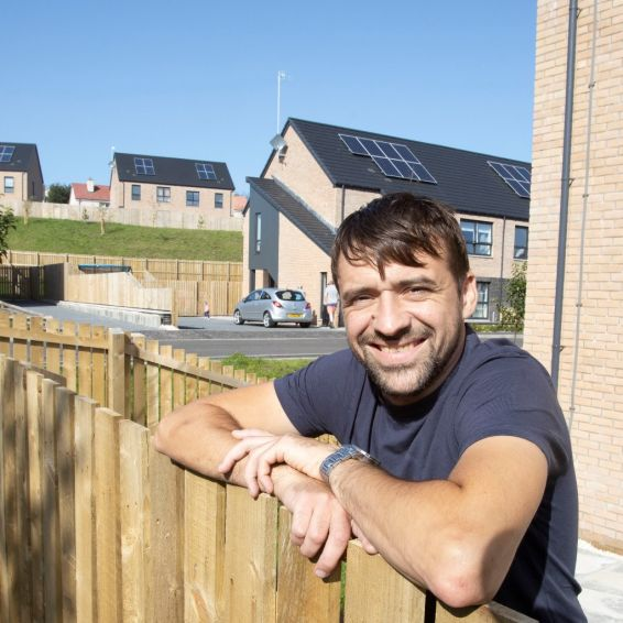 Cube tenant Michael Wright enjoys the views from his new home in Dumbarton