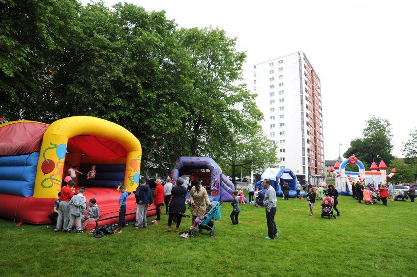 A community fun day in the Wyndford estate in Glasgow's Maryhill.
