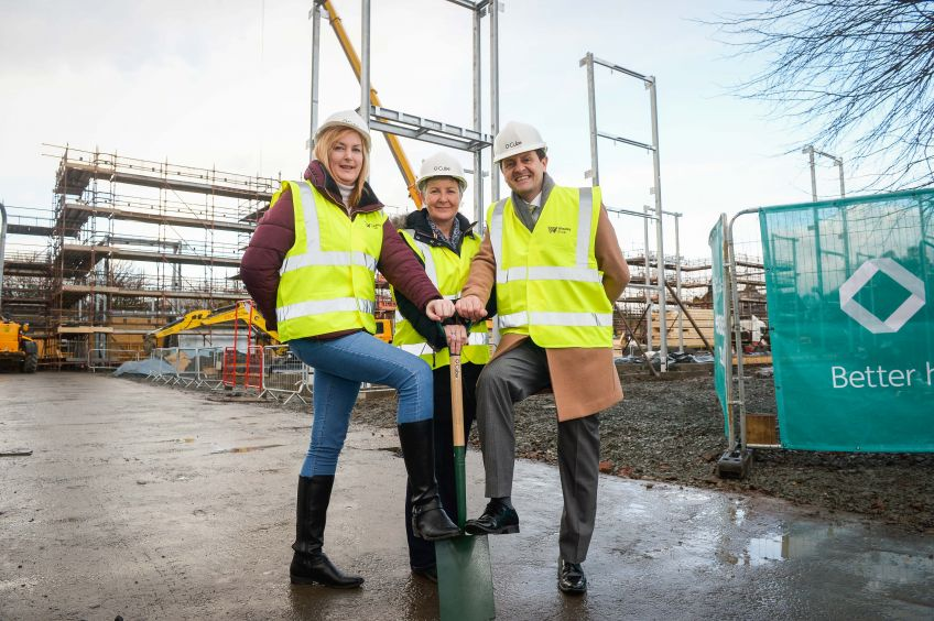 New homes are being built on the site of a former primary school in Bonhill