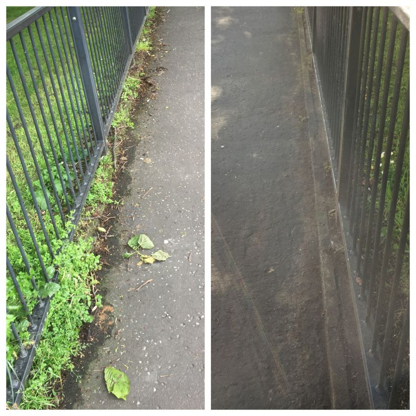 Wyndford fencing before and after