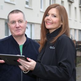 Cube housing officer meets tenant