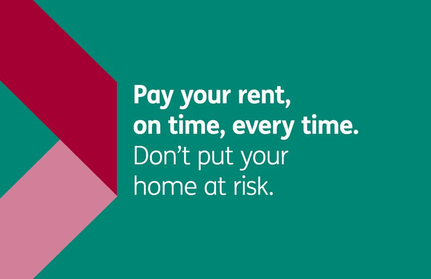 Rent campaign - Pay your rent on time every time letterbox Cube