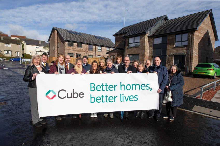 Cube celebrates new homes at Carrick Terrace, Dumbarton